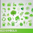 Eco symbols, vector — Stock Vector