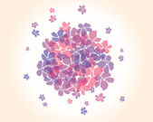 Abstract background with flowers, vector — Stok Vektör