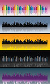 City skyline, vector — Stock Vector