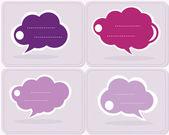 Speech cloud collection, vector — Stock Vector