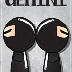 Zodiac sign Gemini — Stock Vector #40277407