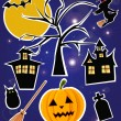 Stock Vector: Halloween items