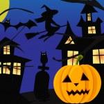 Halloween scene — Stock Vector