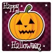 Stock Vector: Happy Halloween card
