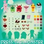 Little monsters — Stock Vector #40282897