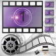 Stock Vector: Movie countdown