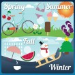 Stock Vector: Season symbols