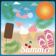 Summer holiday card — Stock Vector #40286441