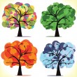 Seasonal trees — Vector de stock #40288229