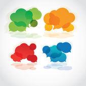 Speech cloud — Stock Vector