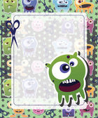 Monster card — Stock Vector