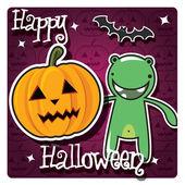 Gelukkig halloween-kaart — Stockvector