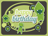 Happy birthday card — Vector de stock