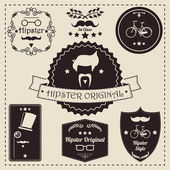 Hipster label icons — Stock Vector