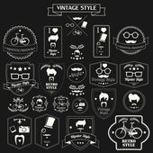 Vintage hipster labels — Stock Vector