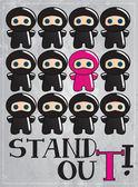 Cute cartoon ninja — Stock Vector