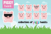Piggy banks — Stock Vector