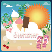 Summer holiday card — Vector de stock