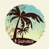 夏の休日カード — ストックベクタ