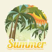 Tarjeta del día de fiesta de verano — Vector de stock