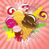 Colorful sweets — Cтоковый вектор