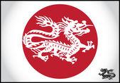 ασιατική παραδοσιακό δράκος — Διανυσματικό Αρχείο
