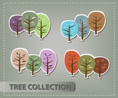 Tree collection — Stock Vector