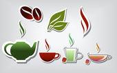 Warm drinks — Stock Vector
