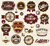 Collection of coffee stickers — Stock Vector