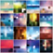 Stock Vector: Collection of 12 blurred colorful abstract backgrounds, vector