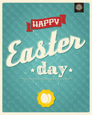 Happy Easter day card, typographical background, poster design, vector illustration — Stock Vector