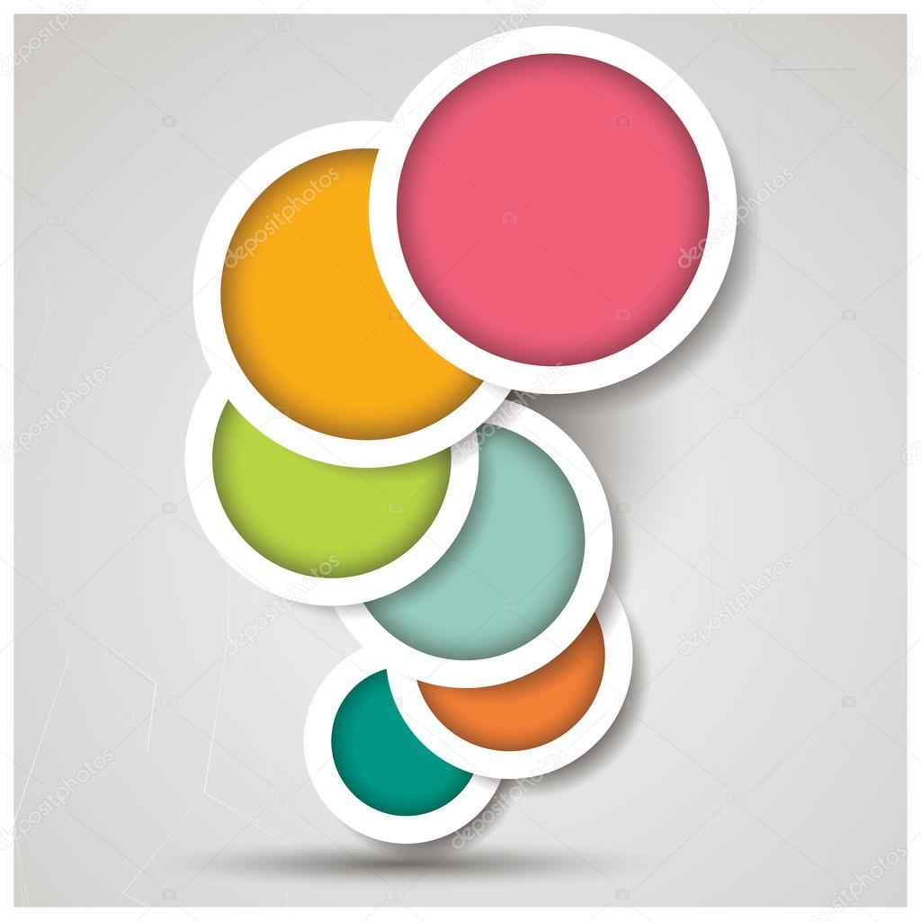 Abstract 3d Circle Background, Colorful Pattern Design