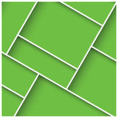 Abstract 3D square background, green tiles, geometric, vector illustration — Stock Vector