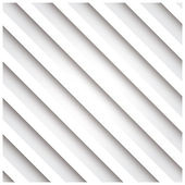 Abstract 3D stripe background, white, vector illustration — Stock Vector
