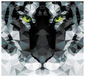 ジオメトリック多角形白虎頭、三角形のパターン設計、ベクトル イラスト — ストックベクタ