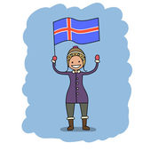 Iceland flag — Stock Vector