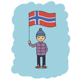 Norway flag — Stock Vector