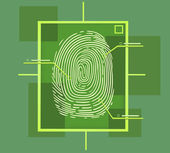 Hi tech fingerprint composition — Vettoriale Stock