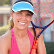 Stock Photo: Young Female Tennis Player