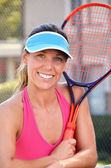 Young Female Tennis Player — Stock fotografie