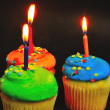 Birthday Cake and Candles — Stock Photo