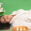 Woman Relaxing In Spa Setting — Stock Photo