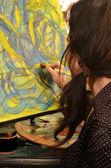 Olgun kadın sanatçı — Stok fotoğraf