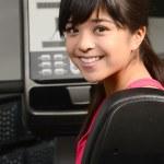 Asian woman at Gym — Stock Photo