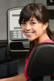 Asian woman at Gym — Stock Photo