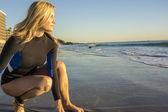 Surfista de mulher — Foto Stock