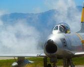 F 86 Sabre Jet — Stock Photo