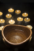 Candles Fire And Water — Stock Photo