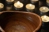 Candles Fire And Water — Stockfoto