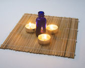 Spa Candles and Ointment — Stock Photo
